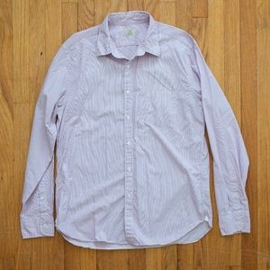 J Crew Striped Long Sleeve Button Front Shirt L